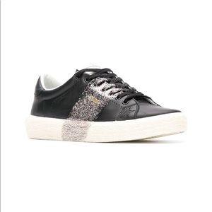 Golden Goose black leather tennis shoe 37 7 7.5